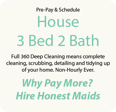 3 bedroom 2 bath home cleaning