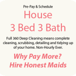 3 bed 3 bath home cleaning
