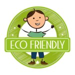 eco friendly green natural cleaning logo