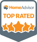 top rated logo badge from Home Advisor for honest maids cleaning company
