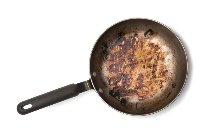 how to clean burnt food off a stainless steel pan