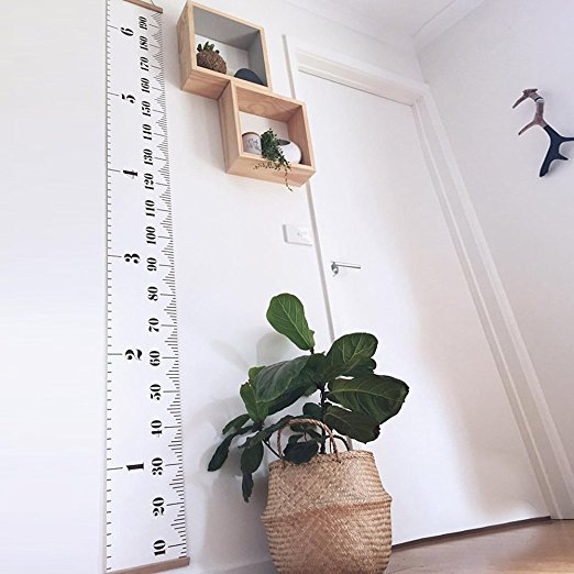 clean room baby height ruler decor idea