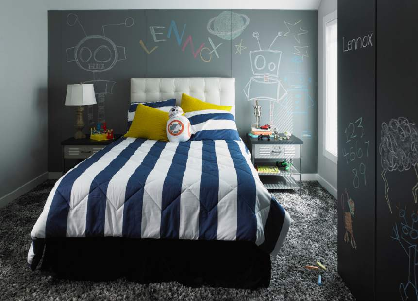 clean organized kid room design idea